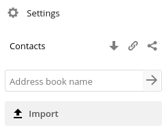 Web interface contacts